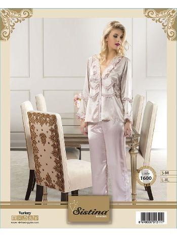 Saten Pijama Sistina 1600