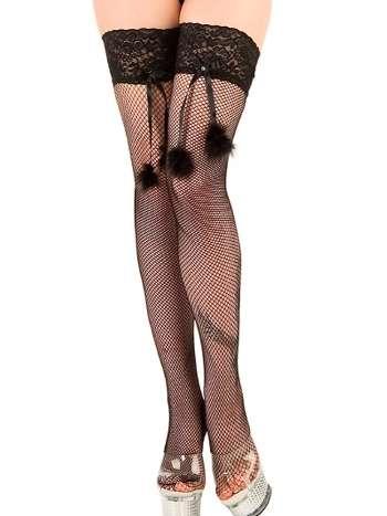 La Blinque Siyah Aksesuarlı Jartiyer Çorap 954