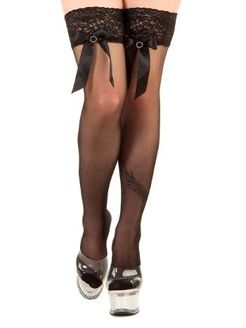 La Blinque Siyah Aksesuarlı Jartiyer Çorap 951
