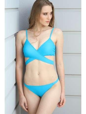 Spenza Swimwear Çapraz Uzun Bağlı Mavi Bikini Takımı