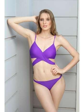 Spenza Swimwear Çapraz Uzun Bağlı Mürdüm Bikini Takımı
