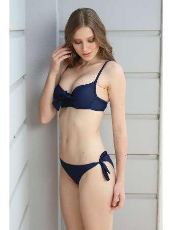 Spenza Swimwear Düğüm Detaylı Lacivert Bikini Takımı