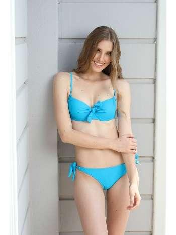 Spenza Swimwear Düğüm Detaylı Turkuvaz Bikini Takımı