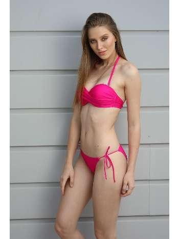 Spenza Swimwear Fuşya Straplez Bikini Takım