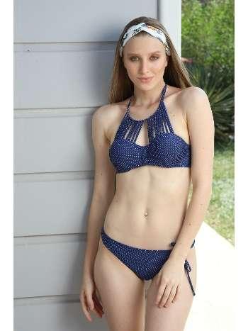 Spenza Swimwear Özel Tasarım İp Detaylı Puantiyeli Bikini Takımı