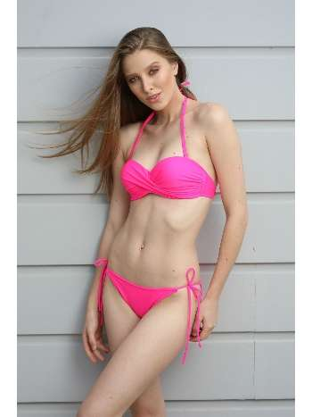 Spenza Swimwear Pembe Push-Up Bikini Takım