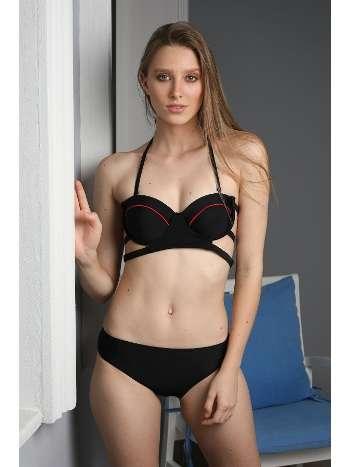 Spenza Swimwear Siyah Biye Detaylı Bikini Takımı