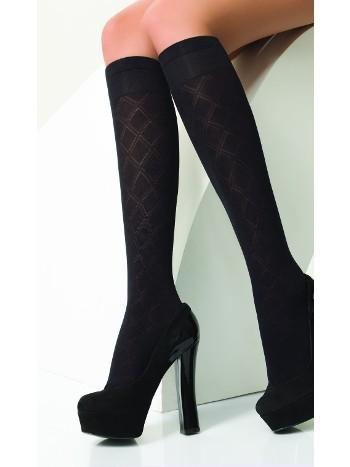 Daymod Star Desenli Dizaltı Çorap