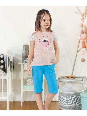 Super Girl Kız Çocuk Kapri Takım HMD 6054