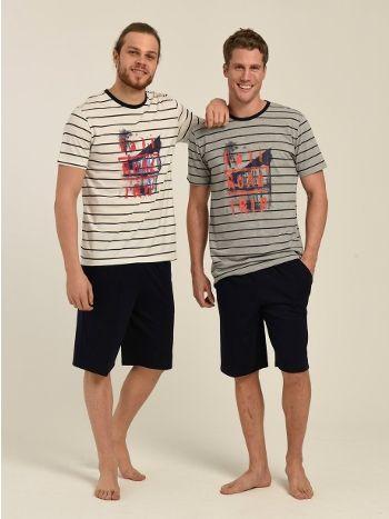 T-Shirt Şort Erkek Pijama Takımı Mod Collection 3100