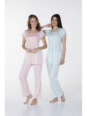 Taşlı Lohusa Pijama Takım Bone Club 4306