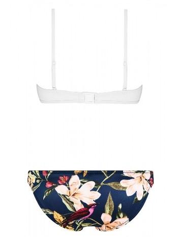 Üstü Renkli Altı Beyaz Özel Tasarım Bikini