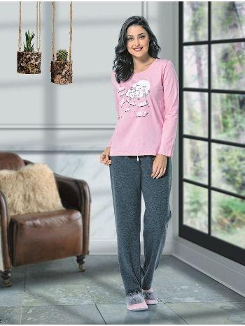 Uzun Kol Bayan Pijama Takım NBB 66350