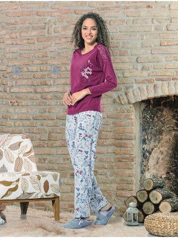 Uzun Kol Bayan Pijama Takım NBB 66359