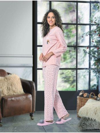 Uzun Kol Bayan Pijama Takım NBB 66377