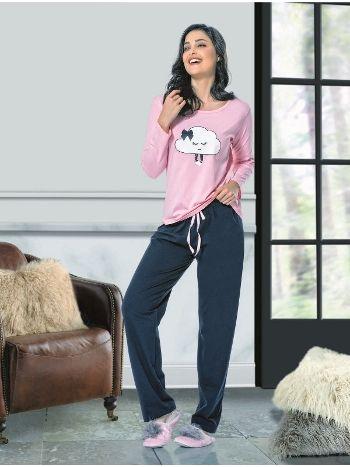 Uzun Kol Bayan Pijama Takım NBB 66378