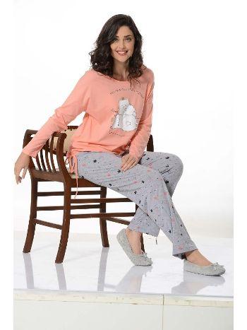Uzun Kol Bayan Pijama Takım NBB 66388
