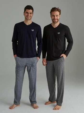 V Yaka Pijama Takımı Mod Collection 3097