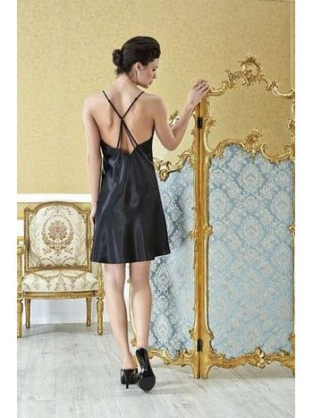 Versace Çapraz ip Askılı Saten Gecelik V1100