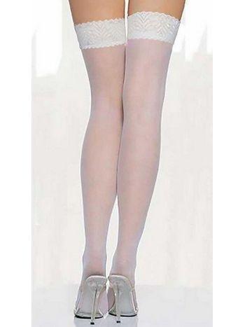 Vixson Beyaz Dantel Çorap