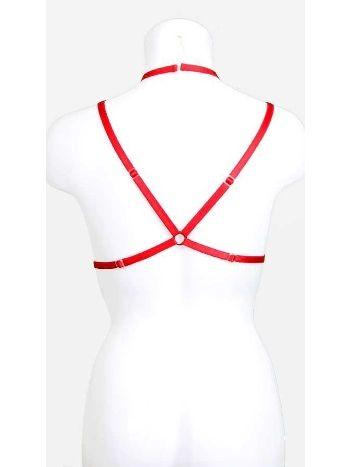 Vixson Kırmızı Harness Bralet Aksesuarı