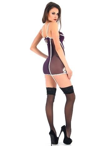 Vixson Mor Seksi Mini Elbise Seti