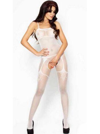 Vixson Özel Bölgesi Açık Beyaz Erotik Vücut Çorabı