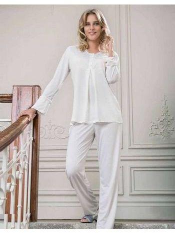 Yeni İnci Viskon 3'lü Bayan Pijama Takım Bpj105