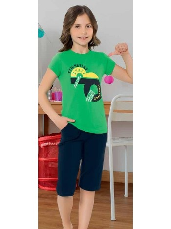 Yuppi Kız Çocuk Kapri Takım HMD 6080