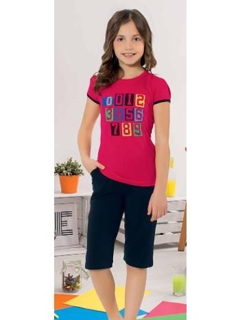 Yuppi Kız Çocuk Kapri Takım HMD 6089