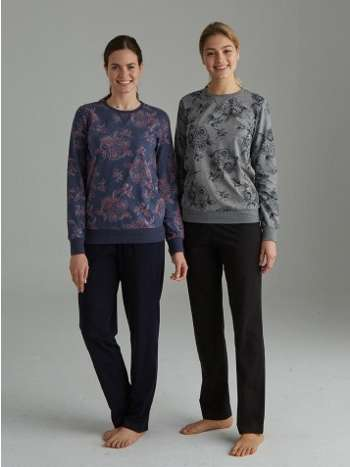 Yuvarlak Yaka Pijama Takımı Mod Collection 3074