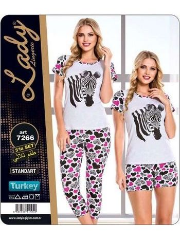 Zebra 3 Lü Kapri Takım Lady 7266