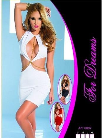Zincirli Seksi Mini Elbise Gece Giyim For Dreams 8087