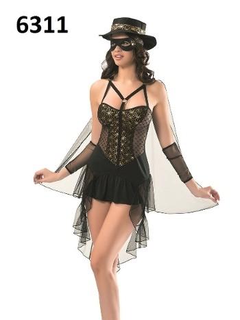 Zorro Seksi Kostümü DenizGülü 6311
