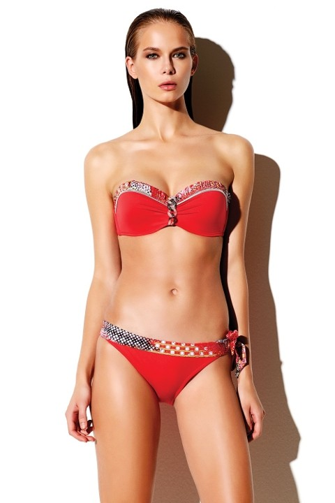 Bikini 250214 Reflections Push-Up Straplez Bikini