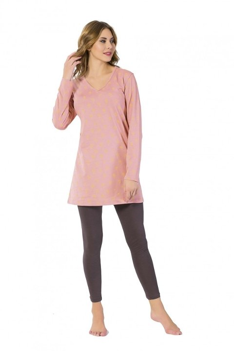 Tayt Pijama Takımları Akbeniz Bayan Tunik Takım 2433