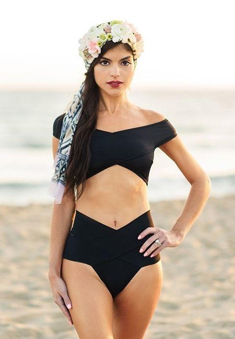 Angelsin Siyah Özel Tasarım Bikini Üst