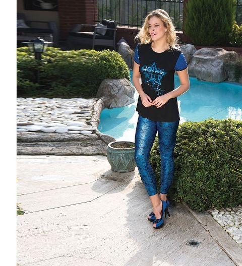 Bayan T-Shirt Tayt Takım Anıl 9403