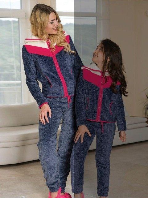 Bayan Kapşonlu Sweatshirt Pijama Takım Anıl 9418