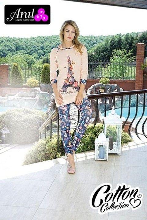 Anıl Kapuşonlu Penye Pijama Tayt Takım 9296
