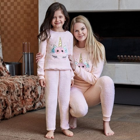 Anıl Kız Çocuk Uzun Kollu Pijama Takım 6341