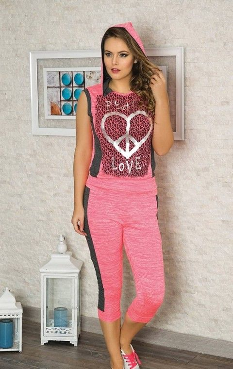 Bayan T-Shirt Kapri Takım Anıl 9339
