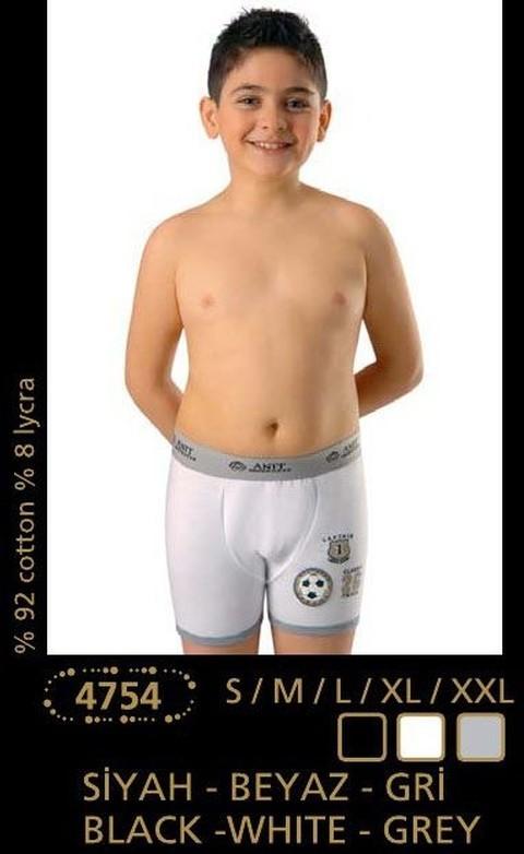 Anıt İç Giyim Likralı Erkek Çocuk Baskılı Boxer 4754