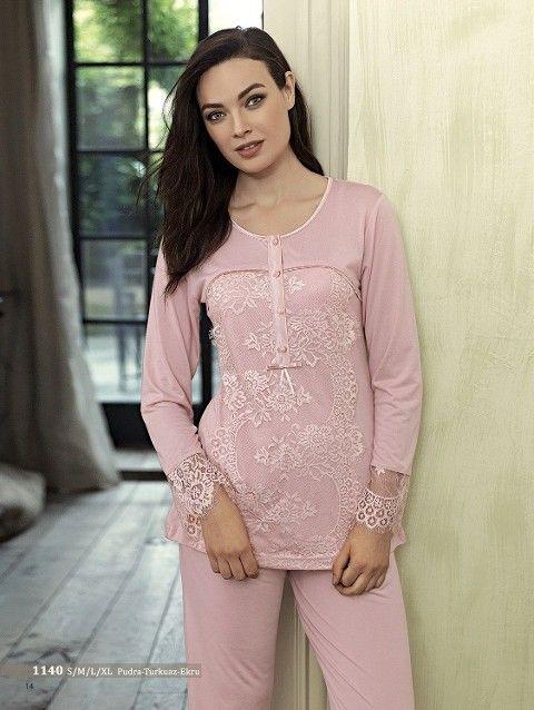 Artış 1140 Çiçek Desenli Pijama Takımı