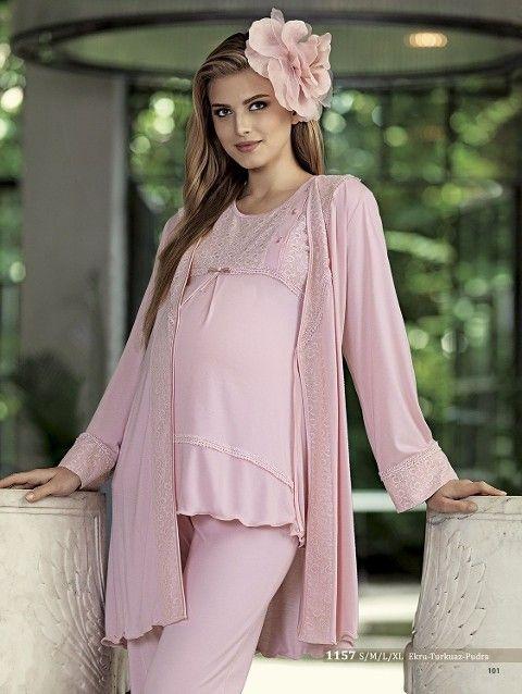 Artış 1157 Fiyonk Taçlı Lohusa Pijama Takımı