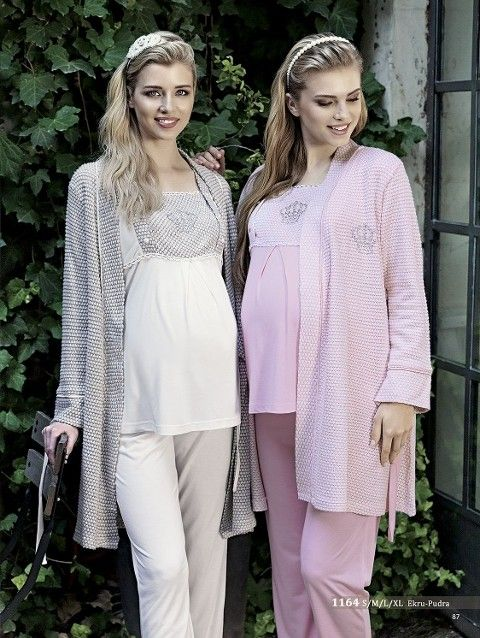 Artış 1164 Trikolu 3 Lü Lohusa Pijama Takımı