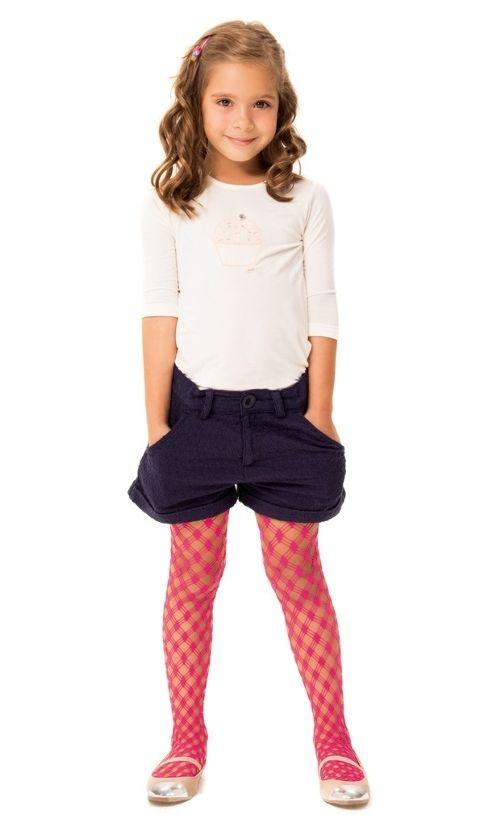 Daymod Ballerina Desenli Külotlu Çocuk Çorabı