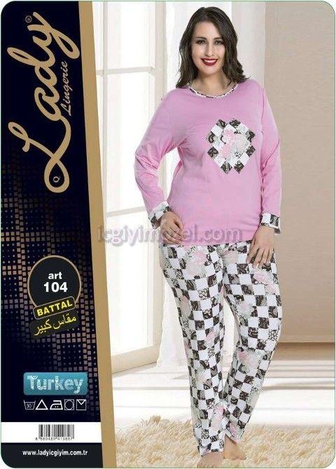 Battal Bayan Pijama Takım Lady 104