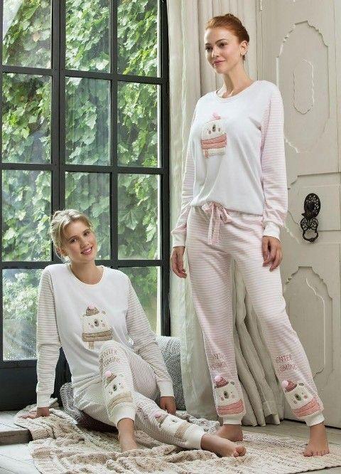 Bayan Pijama Takımı 2 Li Feyza 3106