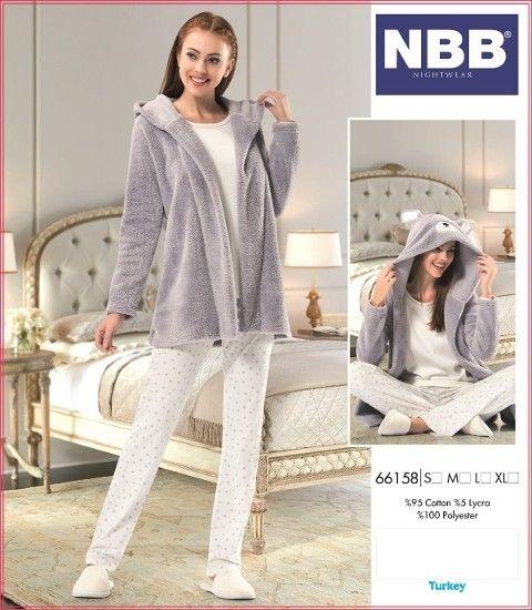 Bayan 3lü Pijama NBB 66158